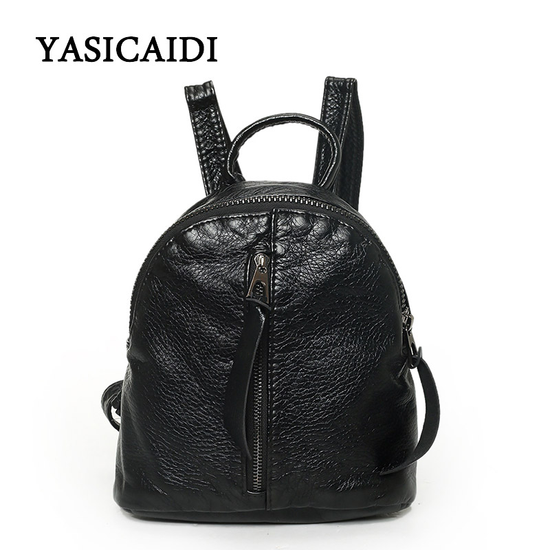 Women Backpack Small Black PU Leather Women's Backpacks Fashion School Girls Bags Female Back Pack Famous Brand mochilas dida bear brand women pu leather backpacks female school bags for girls teenagers small backpack rucksack mochilas sac a dos