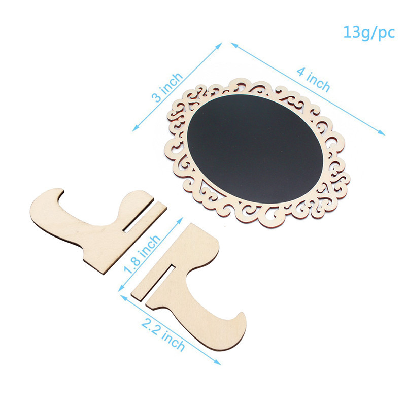 5pcs/Lot Oval shape Wooden mini blackboard Message boardFor Wedding Party Decorations chalkboards Lahore