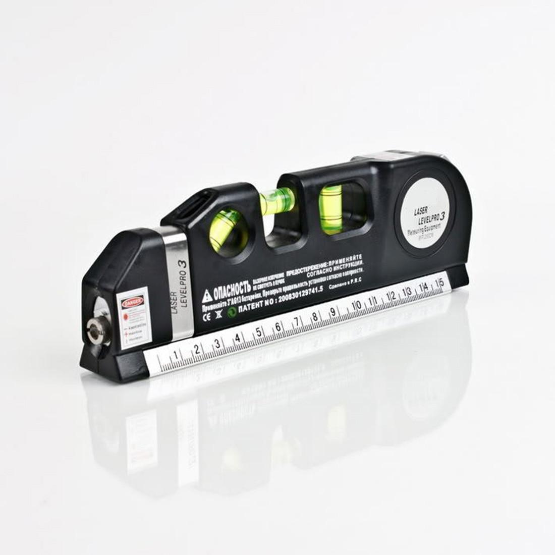 Good Multipurpose Level Laser Horizon Vertical Measure Tape 8FT Aligner Bubbles Ruler Tool for Hanging Pictures Laying Flooring
