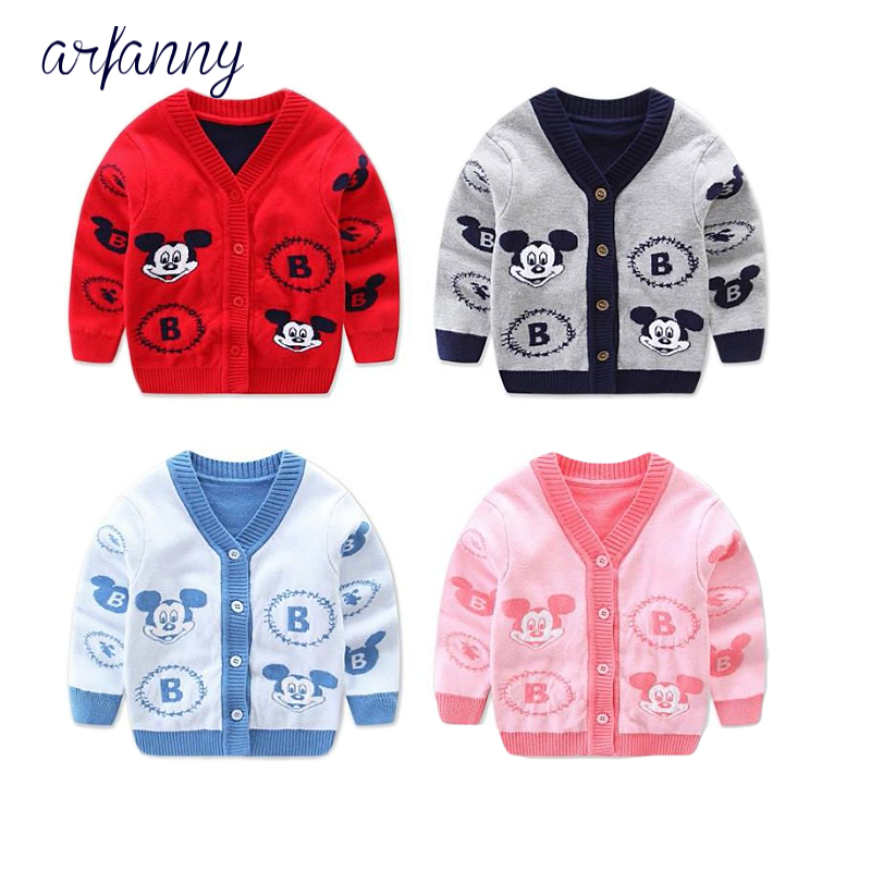 boys sweater cardigan and cotton 0 - 1 year baby's knitted coat collar thick V Cartoon girls sweaters цены онлайн