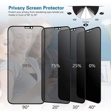 ที่ดีที่สุด 9 H กระจกนิรภัยสำหรับ iPhone X XS MAX XR 6 6 S 7 8 Plus spy Glare Peeping ป้องกันหน้าจอความละเอียดสูง
