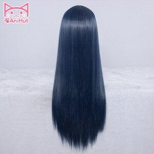 Image 2 - 【AniHut】Tsushima Yoshiko Wig Love Live Sunshine Cosplay Wig Blue Synthetic Hair LoveLive Sunshine Cosplay Tsushima Yoshiko