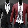 2016 новое прибытие Однобортный классические случайные мужские костюмы, тонкие мужчин пиджак С Длинным рукавом slim fit блейзер masculino высокое качество
