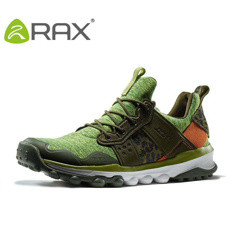 Rax Men Women Outdoor Trail Running Shoes Cushioning Sports Sneakers Men Breathable Mesh Antiskid Jogging Shoes Women 63-5C360