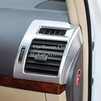 Para 2018 Toyota LAND CRUISER PRADO LC FJ150 Interna Esquerda e Direita Tampa Trims ABS Chrome Ar Condicionado Saída de Ventilação Do Carro acessórios|Estilo de cromo| |  -