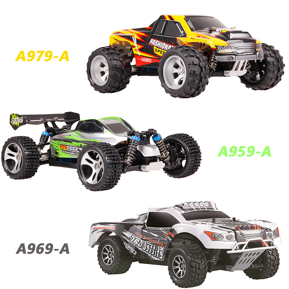 Wltoys A959A/A969A/A979A 1:18 Off-Road <font><b>RC</b></font> Car 2.4G 4WD 45KM/H High Speed RTR Big Foot Remote Control Car Off-Road <font><b>RC</b></font> <font><b>Drift</b></font> Car image