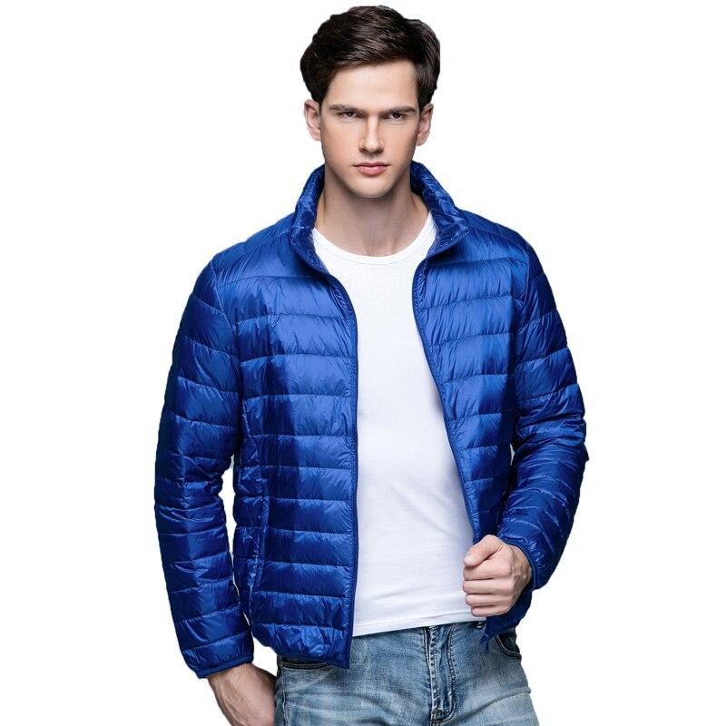 2017 Autumn Winter Down Coat 90% White Duck Down Parkas for Men Brand Male Jacket Ultra Light Thin Winter Jackets Men Outerwear