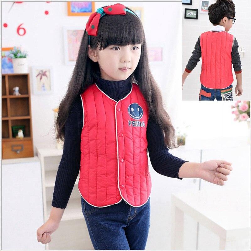 vestido infantil  child 100% cotton vest 2015 male female child thermal vest down cotton-padded jacket wadded jacket solid color