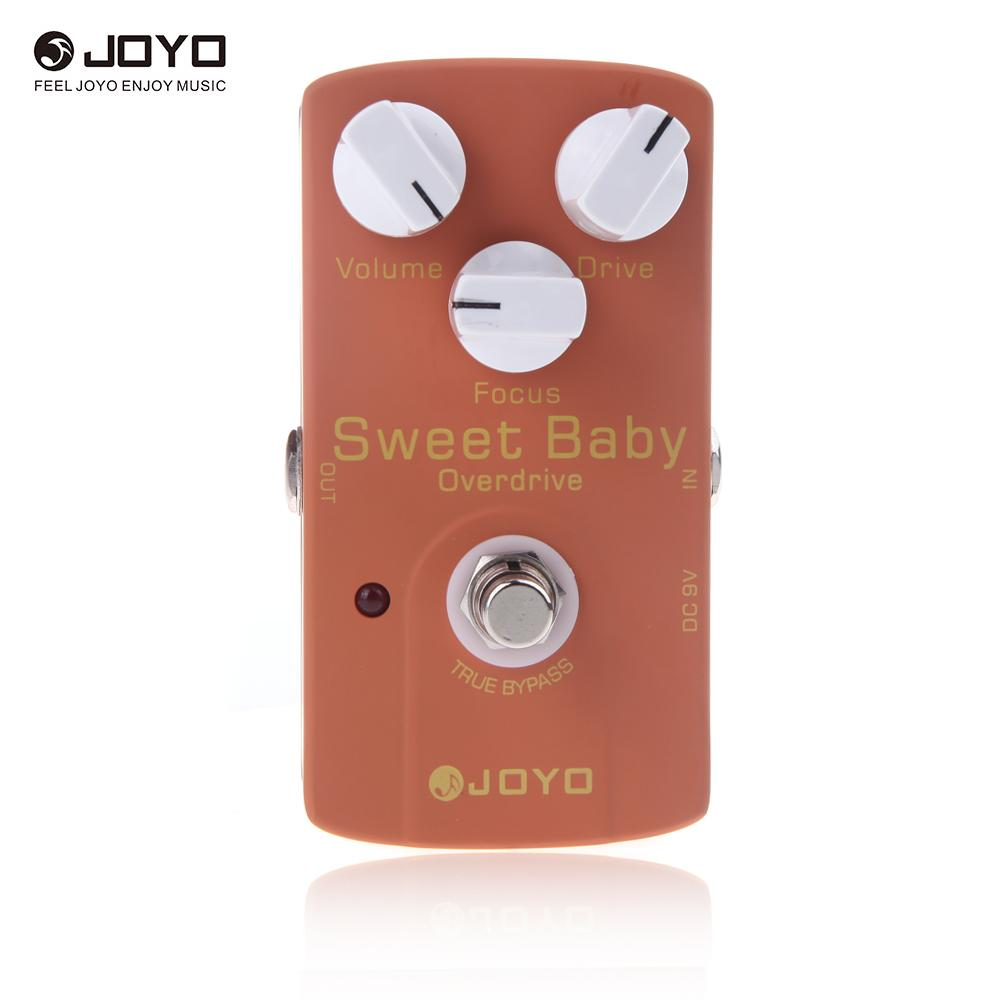 Joyo JF 36 Sweet Baby Electric Guitar Effect Pedal with Low Gain Overdrive Effect Focus Knob