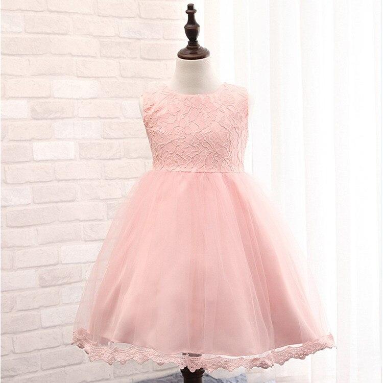 Vestidos de niña de boda Champagne encaje 6 colores rosa vestido de ...