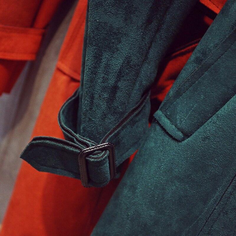 Giacca Qw722 Moda pink Outwear army Rimovibile Cappotto Gray green Donne New red Trench Lungo Vento A Femminile Autunno 2017 Le Green Impiombato xA74Zqw0RR