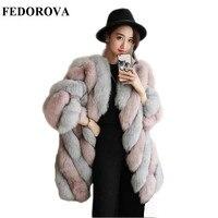 Hoge kwaliteit verdikking Een vos bontjas een lange mouwen europese en Amerikaanse mode jas een 2017 Haining in winter