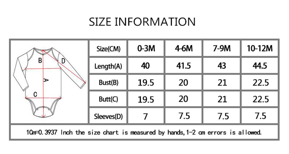 size information long sleeve