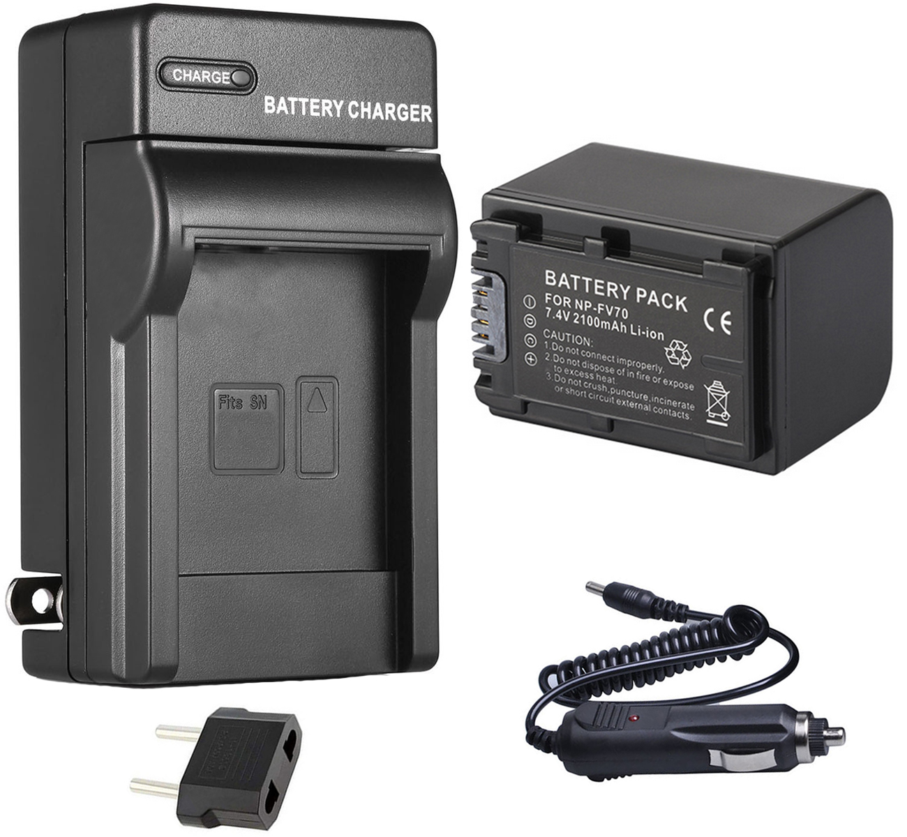 BATTERIA CAMCORDER-CARICABATTERIE MICRO USB PER Sony Handycam hdr-cx250e