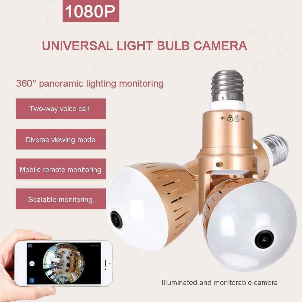 360 degree Video Camera WIFI Wireless 1.3MP 960P Full HD Digital Camera FishEye Remote Control 360 Bulb Light Smart Cameras