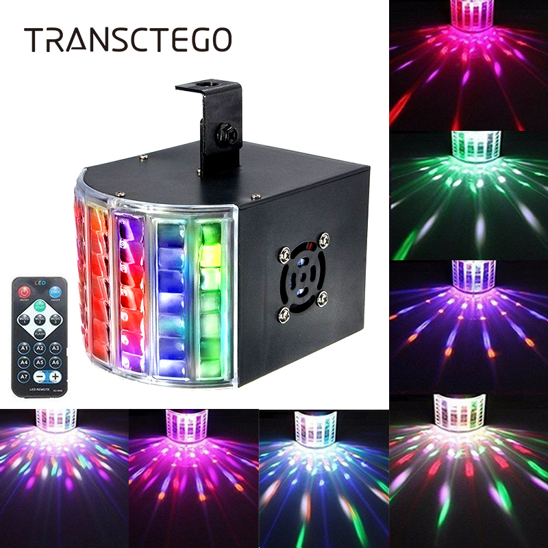 Led Disco Light 18W DMX512 DJ RGB LED Party Lights Sound Actived Disco Lamp for Stage Lighting Wedding Karaoke Color Changing