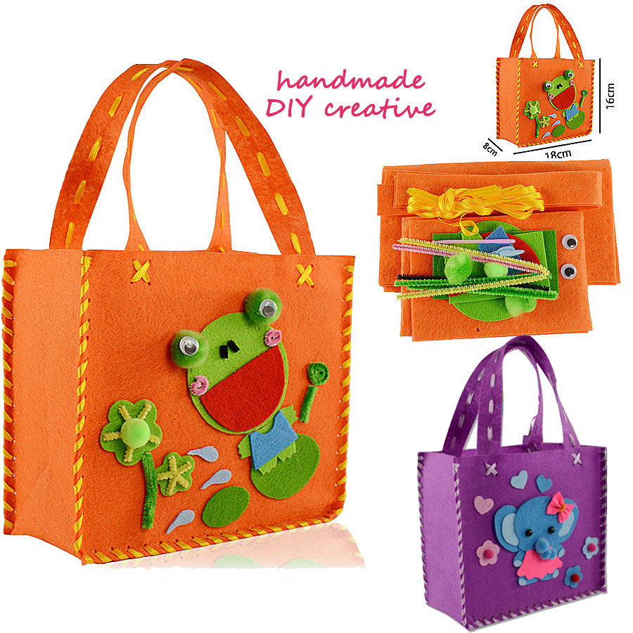 Kids Sewing Kit for Girls Beginners My First Sewing Kit Cartoon Frog and Elephant Handmade Art & Crafts Educational Kids Gifts