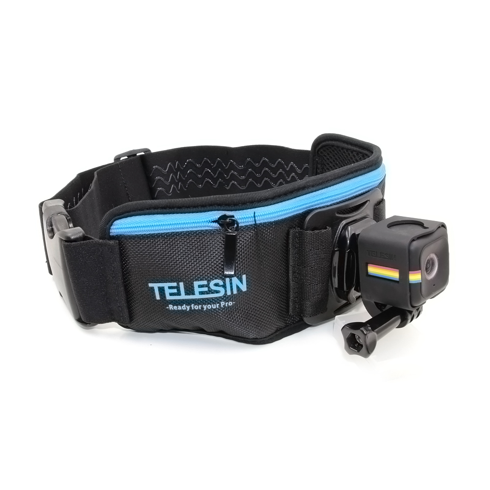 TELESIN Adjustable Waist Belt Strap with Frame Mount for Polaroid Cube / Cube + and Fits for GoPro Hero Series Camera Accessory
