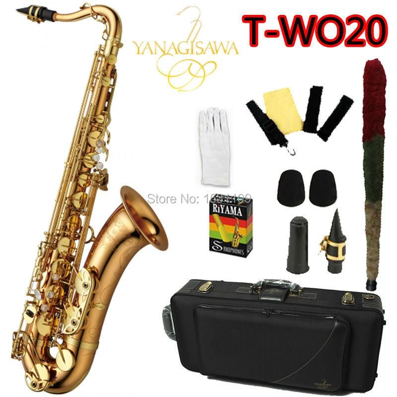 цена  Brand NEW YANAGISAWA Tenor Saxophone T-WO20 Bb Gold Laquer Professional Sax Mouthpiece With Case and Accessories  онлайн в 2017 году
