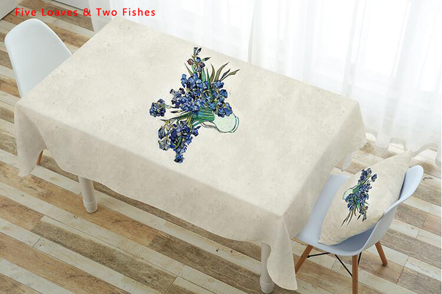 Free Shipping Tablecloths New Vase Thicker Cotton Linen Tablecloth  Rectangular Round Table Cloth Table Cover