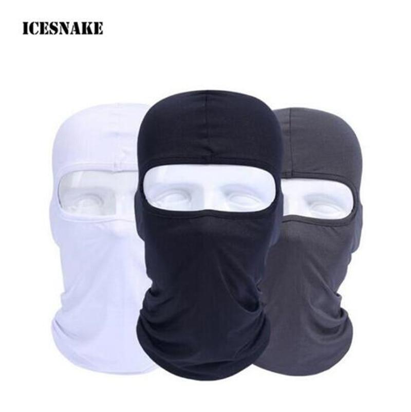ICESNAKE OMotorcycle Face Mask Moto Balaclava Airsoft Paintball Cycling Ski Mask Breathable Windproof Motorcycle Mask