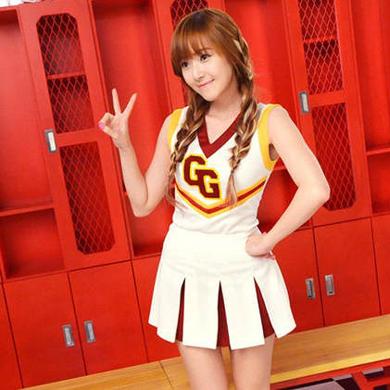 Free Shipping Korean Girl Generation Costumes For Dancing Cheerleader Uniforms For -1318
