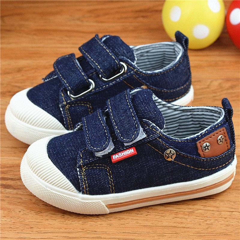 2016 ახალი სტილის ბავშვების საწინააღმდეგო ჯინსის ფეხსაცმელი გოგონები ბიჭები sneakers ბავშვი შემთხვევითი ტილო ფეხსაცმელი ბავშვები Running Sport ფეხსაცმელი