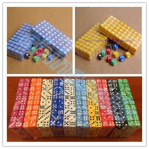 10 шт Непрозрачный покер, фишки, кости 14 мм шестисторонний точечный Забавный кубик для настольной игры D& D РГП игры вечерние игральные кости игровые кубики