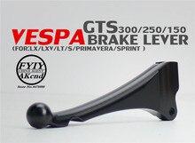 Dźwignie hamulcowe motocyklowe przednia tarcza hamulcowa tylna dźwignia hamulca bębnowego do piaggio vespa LX LXV LT S150 primavera sprint GTS GTV 300 250 200ie