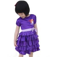 Lato Odzież Baby Girl Dress Cartoon Sofia Wzór Dziewczyny Odzież Krótkim rękawem Dzieci Księżniczka Sukienki Dzieci Kostium