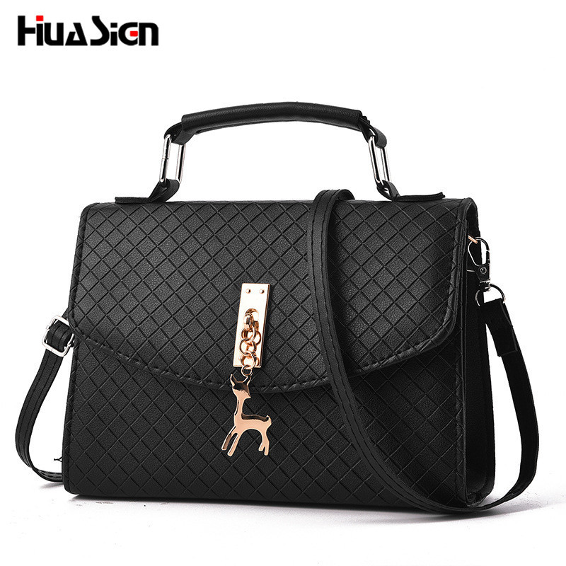 Huasign Women shoulder bags messenger bag women pu leather small hand bag famous brand crossbody bag With Deer Appliques Shell fashion women mini messenger bag pu leather shell shape bag crossbody shoulder bags with deer toy popular