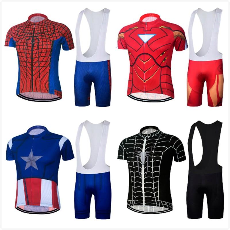 2018 Superhero Spiderman cycling jersey maillot ciclismo hombre Ironman  Superman man bicicleta MTB bike clothing bib shorts eaf5eeaaf