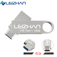 LEIZHAN 3 0 OTG USB Flash Drive Type C 3 1 Dual Metal Interface Mobilephone USB