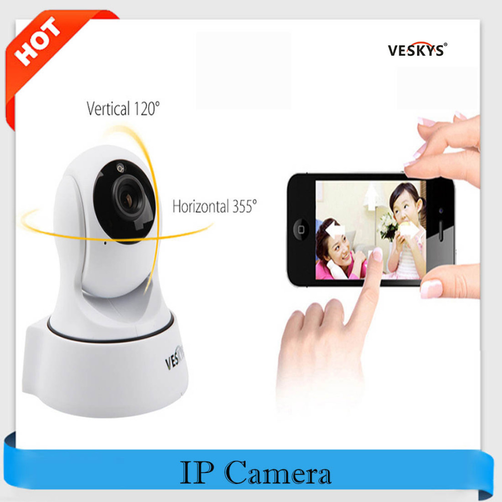 VESKYS IP Camera WiFi 720P HD 1.0MP P2P Baby Monitor Infrared IR-Cut Pan/Tilt CCTV Security Wifi Cam Wireless P2P Remote Control bw cctv ip wifi wireless camera p2p infrared motion