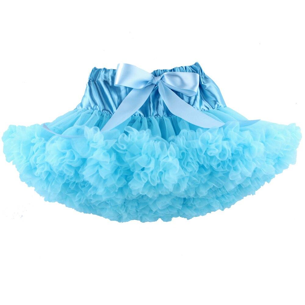 Юбка для маленьких девочек; детская Пышная юбка-американка для девочек; винно-красная юбка-пачка; детская юбка; пышная юбка-пачка для маленьких девочек; - Цвет: Небесно-голубой