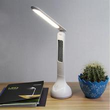 Светодиодная настольная лампа, складной светильник с календарём, регулировкой температуры, будильником, меняющим цвет атмосферы светильник для книг