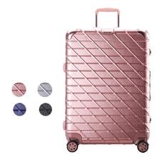 Fashion 20′ Boarding Bag 24′  Trolley Gold Pink Silver Black Aluminium Frame Luggage Marco Aluminio 26′ 29′ Suitcases Travl Bag