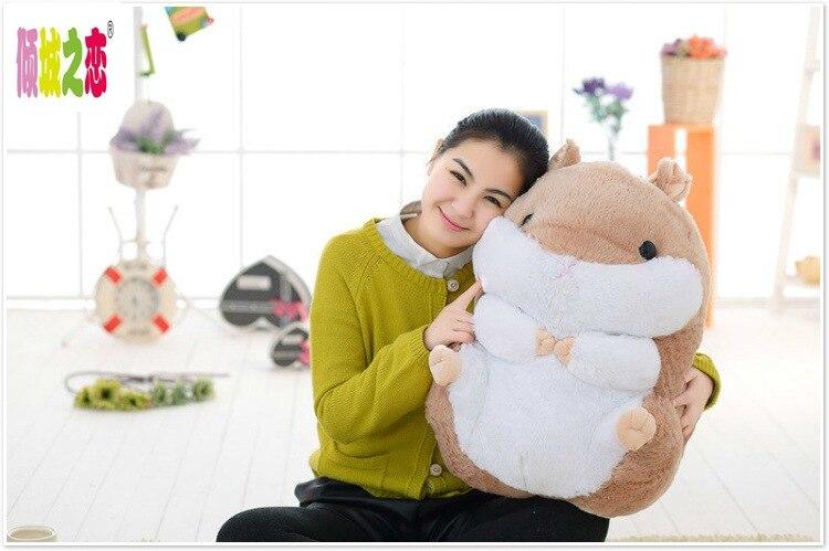 Grand brun en peluche hamster jouet belle nouvelle graisse hamster poupée cadeau jouet environ 55 cm