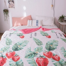 2019 Thin Lightweight Blankets Air Conditioner For Double Summer Printed 200/180X230CM Comfortable