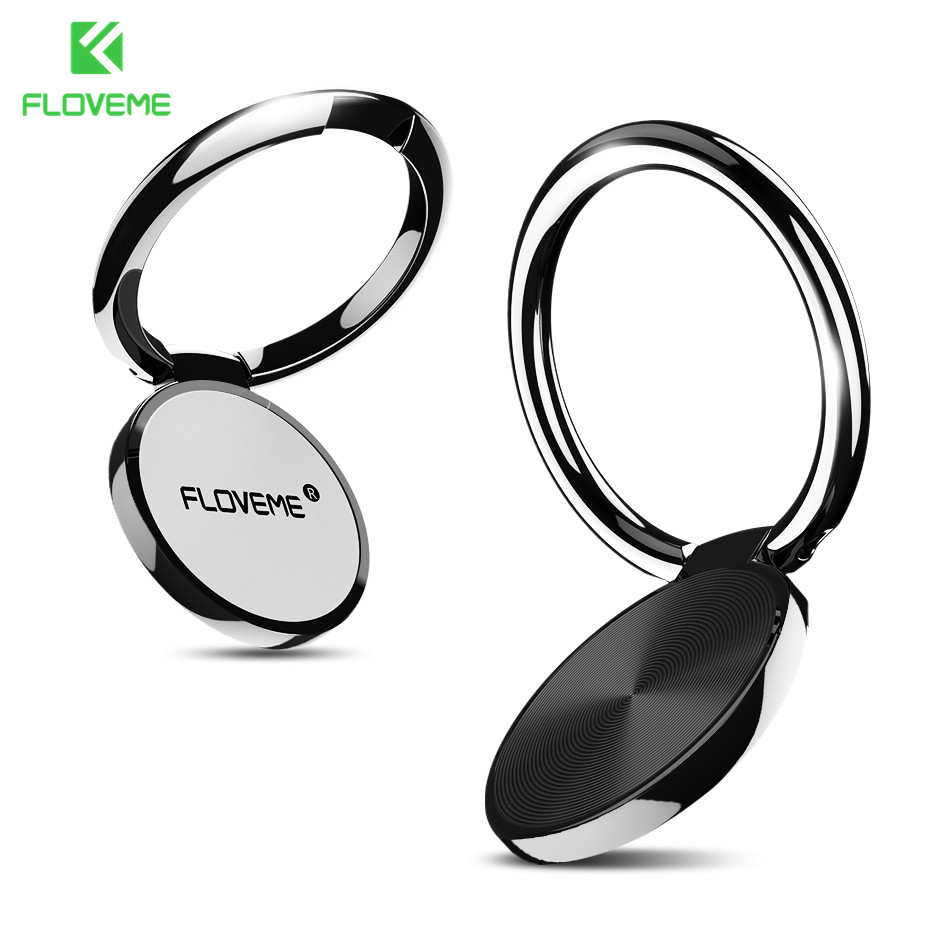 Galleria fotografica FLOVEME Universal Finger Ring Holder For iPhone 5 6 6S 7 8 Plus X Metal Stander For Galaxy S6 S7 S8 Magnetic Smartphone Supports