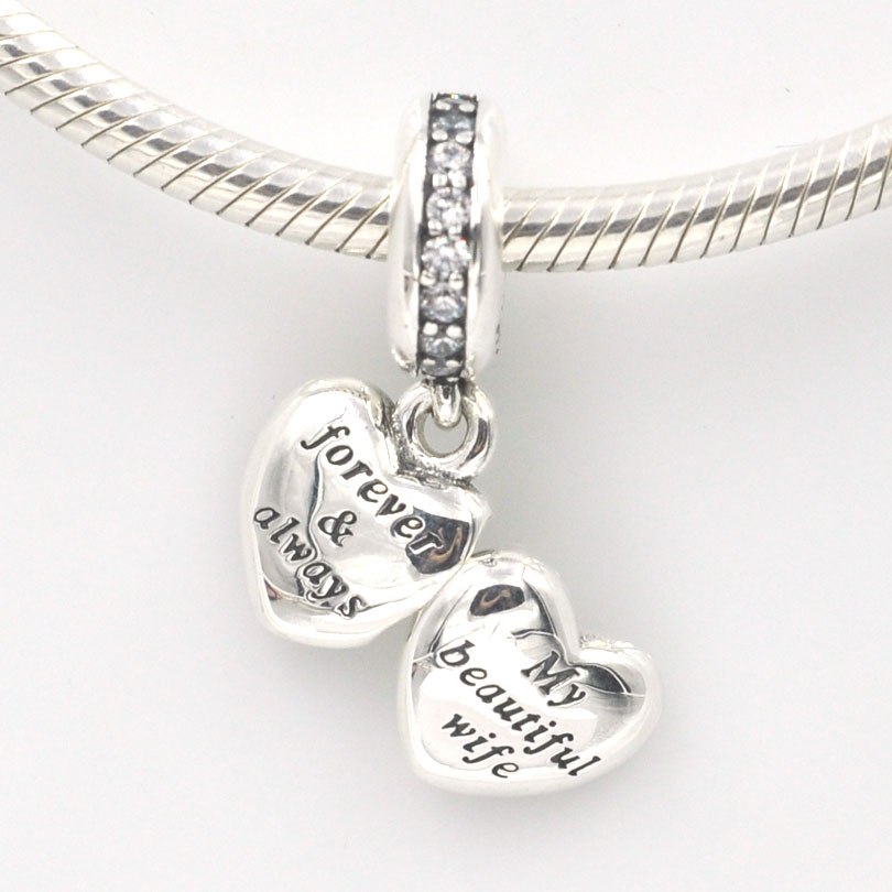 6fba20762 ... Fits Pandora Charms Bracelet My Beautiful Wife CZ Charm Beads Authentic  Original 925 Sterling Silver Beads ...