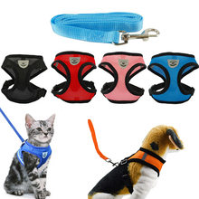 Collier chat harnais gatinho colar produtos para animais de estimação trela ajustável reflexiva