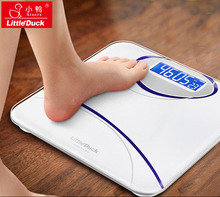 New Arrival 180kg Sq. Evening Imaginative and prescient Temperature Measuring Weight Scale White Blue Sensible LCD Digital FLOOR SCALES XY-1601