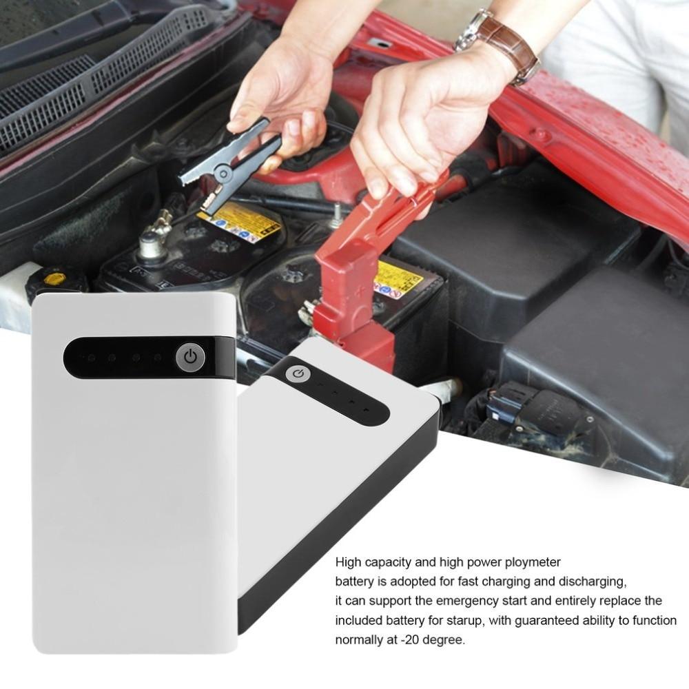 1 Set US Plug 12V 20000mAh Mini Car Jump Starter SOS Emergency Charger Power Bank Battery Torch Booster White Fast Charging tronsmart presto 12000ma h white titan 90w charger us plug white