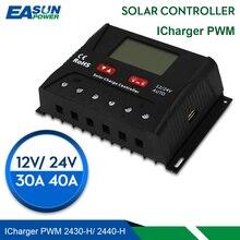 EASUN güç güneş şarj regülatörü 30A 40A PWM güneş şarj kontrol cihazı USB 5V voltaj regülatörü lcd ekran 12V 24V güneş regülatörü