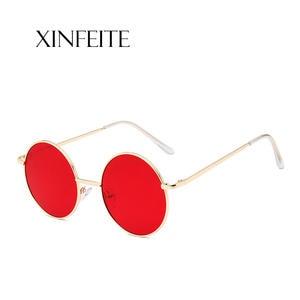 72b01184dac9 Xinfeite Sunglasses 2018 New Retro Metal Round Frame Colorful UV400 Outdoor  Leisure Sun Glasses For Men Women X464