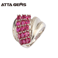Red Ruby Sterling Silver Ring 3 Carats Ruby Gemstone Fine Jewelry All Clean Quality Women S