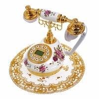 Античный стационарный телефон с идентификатором вызова Дата часы отрегулировать кольцо без батарея классический для офис