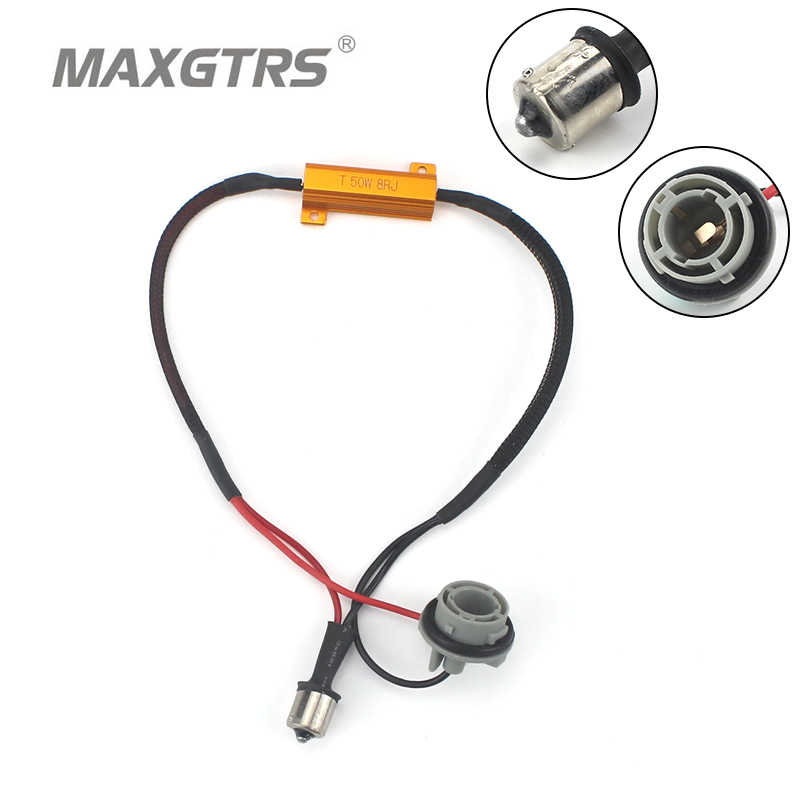 2x Car LED Turn Singal Load Resistor 50W Canbus Error Free Wiring Canceller Decoder 1156 BA15S 1157 BAY15D 7440 7443 3156 3157