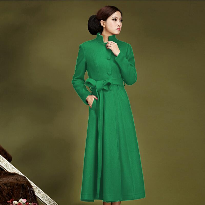 Laine Manteaux D'hiver Femmes Haute Style De Mode Plus La Taille Coréenne Pour Femme Manteau Femmes Longue Veste